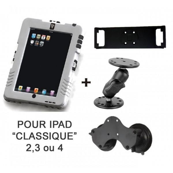 Pack iPad Case + fixation ventouse