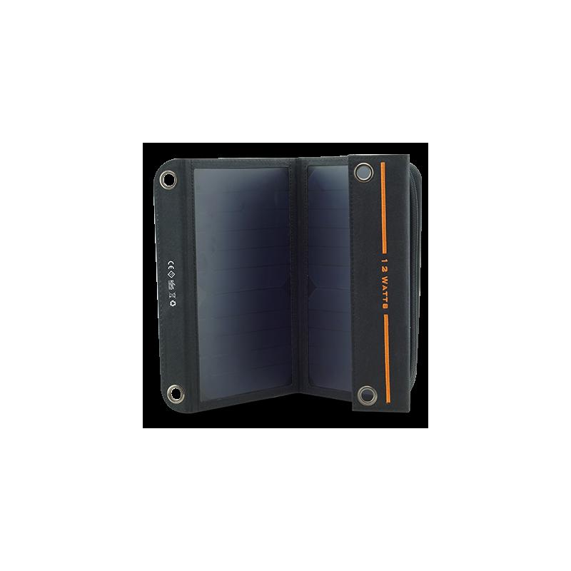 panneau solaire portable 12w avec batterie int gr e pour recharger tous appareils usb. Black Bedroom Furniture Sets. Home Design Ideas