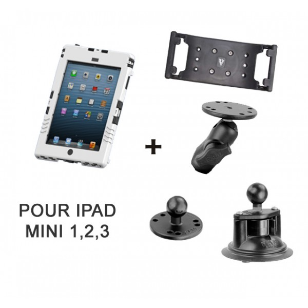 Pack aiShell (iPad mini) + fixation ventouse