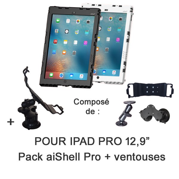 Pack aiShell Pro 12.9 + fixation ventouses