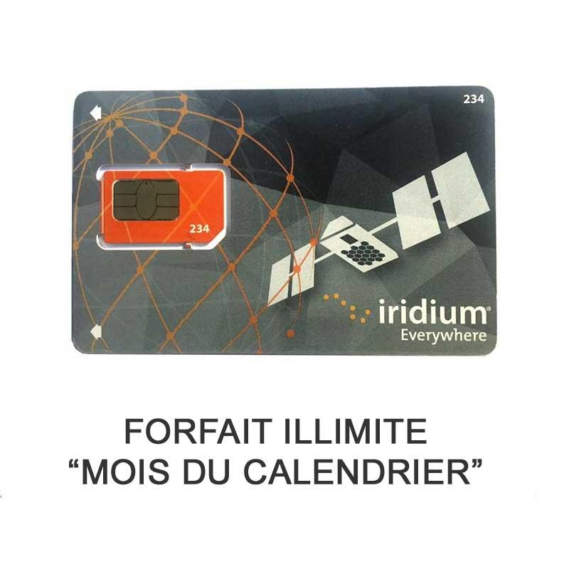 "Forfait Iridium Go Unlimited ""mois du calendrier"""