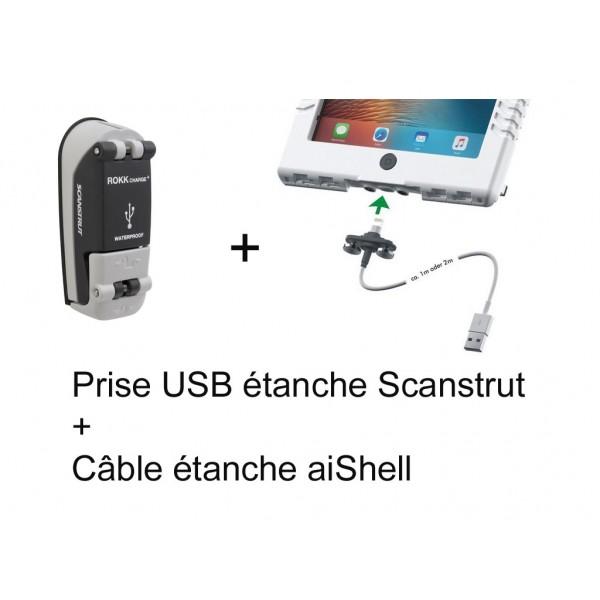 Pack prise Scanstrut + câble aiShell