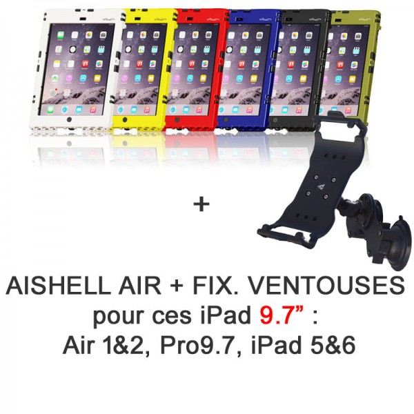 Pack aiShell Air + ventouses
