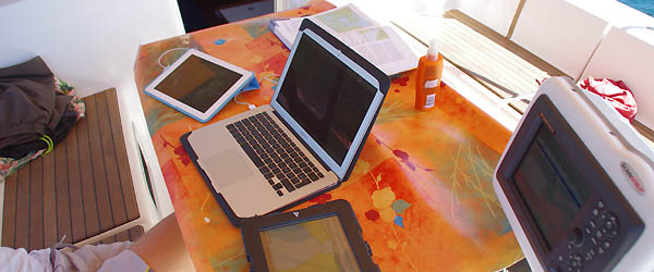 computers and tablets on boat !