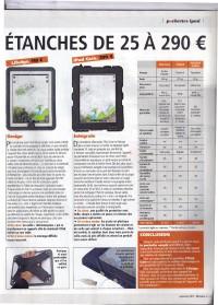 Comparatif housses iPad dans la revue Bateaux